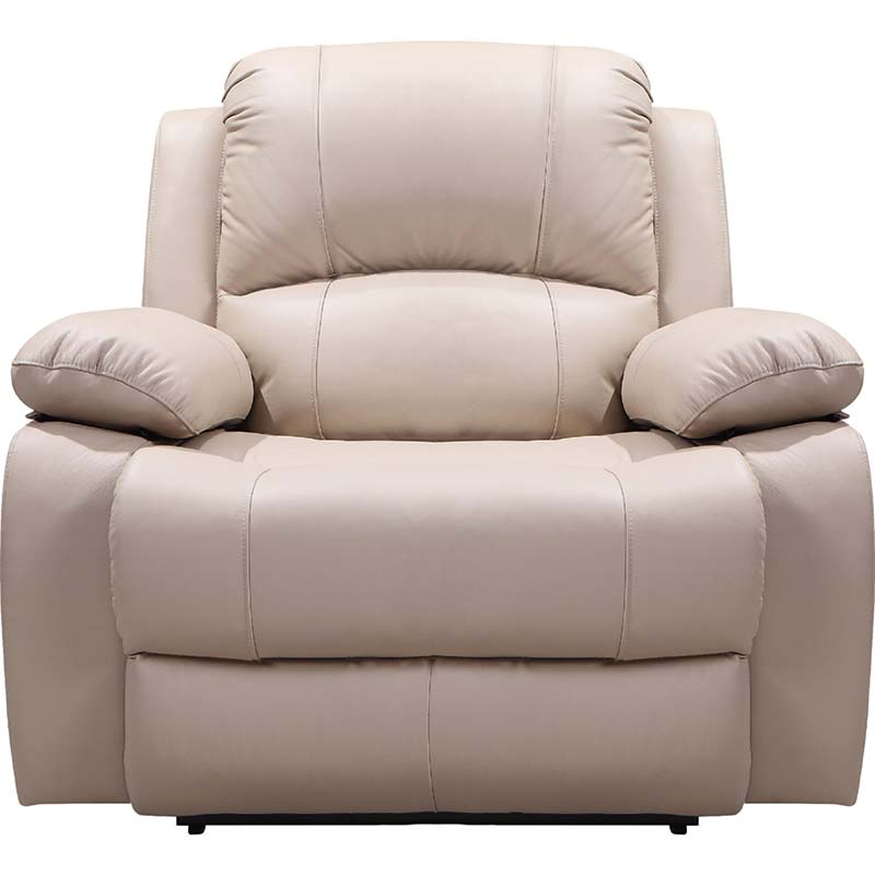 Leather Italia Winfield Taupe Recliner