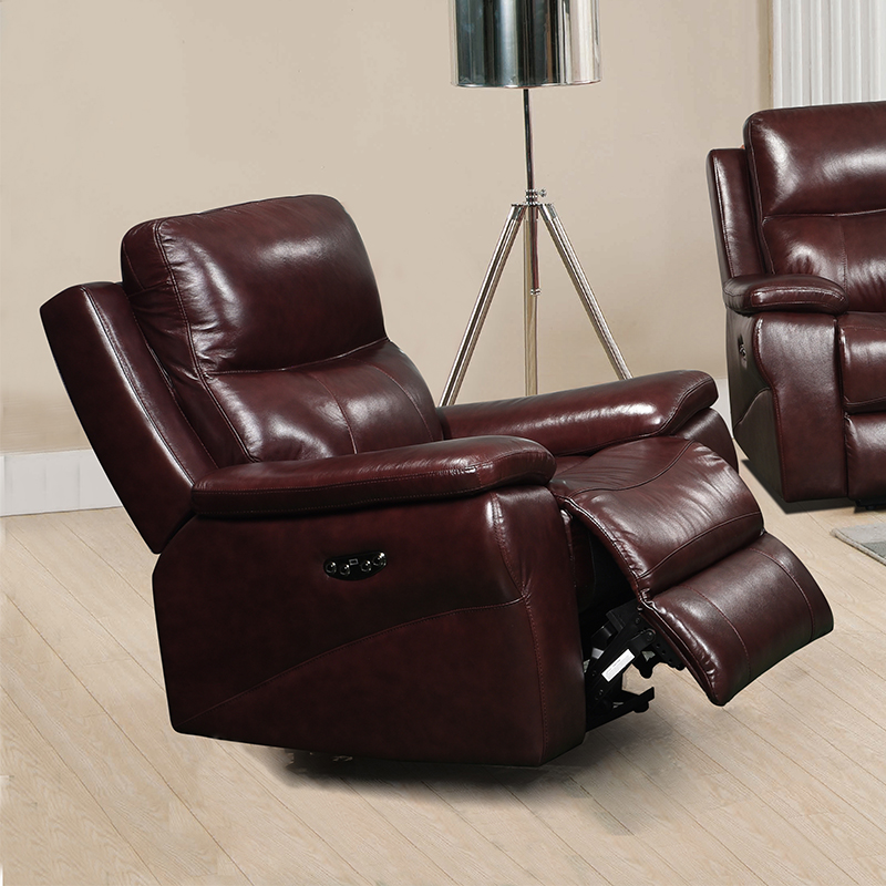 Leather Italia Belmont Brown Recliner